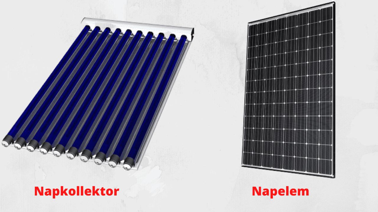 napelem napkollektor különbség