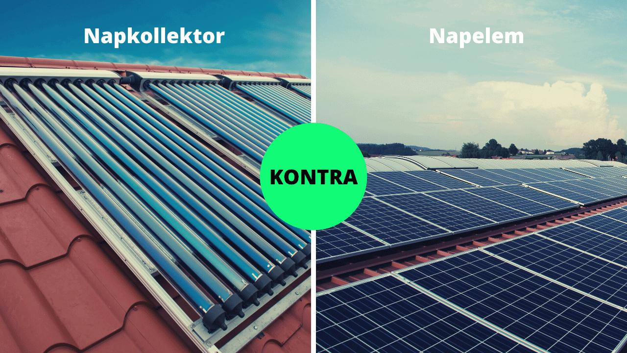 napkollektor napelem különbség